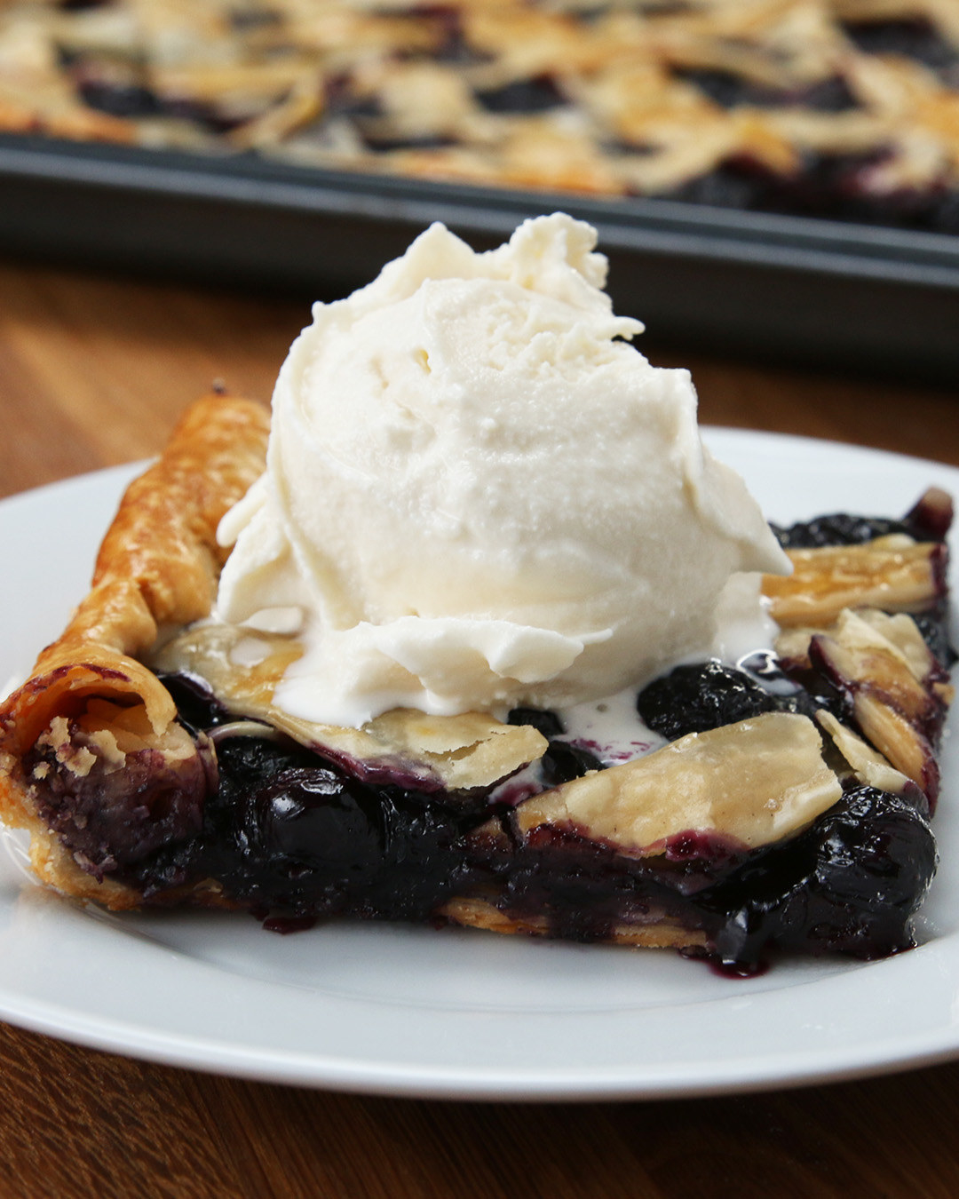 This Blueberry Peach Slab Pie Is Right Up Your Alley