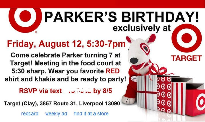 this kid had his birthday party at target and it was everything, Party invitations