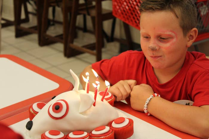 Finally It Was Time To Sing Happy Birthday Parker And Have Cake Which Target Themed Of Course