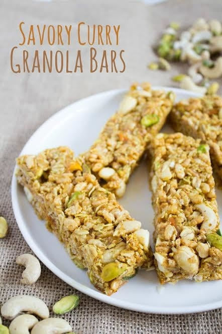 Savory Curry Granola Bars
