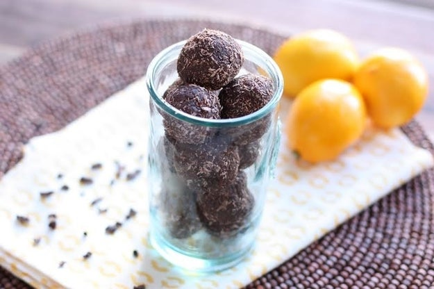 Lemony Dark Chocolate Energy Bites