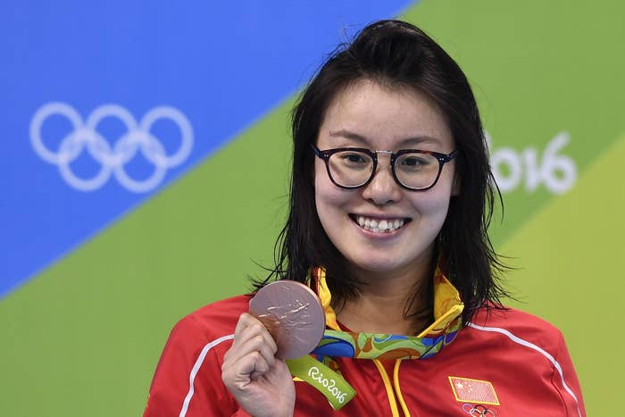 """The interview came after her team placed fourth in the 4x100 medley relay. """"I feel like I didn't swim very well today and I want to apologize to my teammates for that,"""" Yuanhui said to the China Central Television reporter. The reporter then commented that Yuanhui seemed to have some stomach pain."""