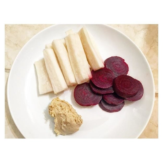 Jicama and Beets with Cashew Butter