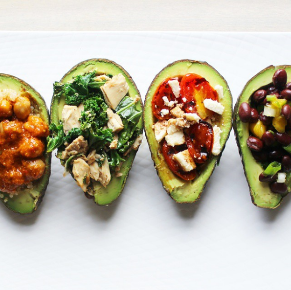 Stuffed Avocado 4 Ways