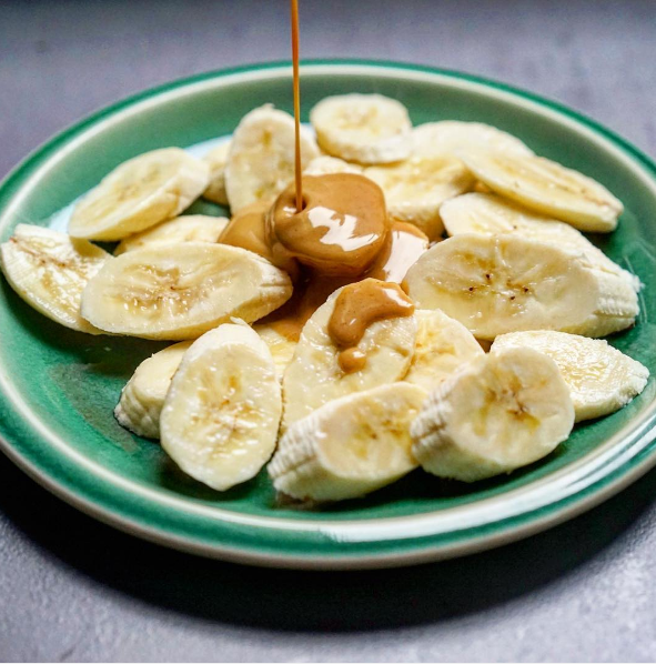 Bananas With Warm Peanut Butter