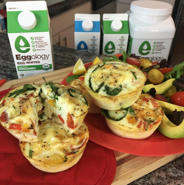 Egg White Muffins with Mozzarella and Veggies