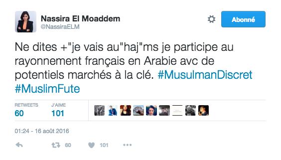 Pour quand on vous demande pourquoi vous allez à La Mecque.