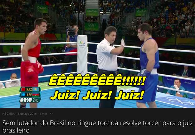 Quando a torcida resolveu torcer pro juiz brasileiro porque não tinha ninguém do Brasil lutando no boxe.