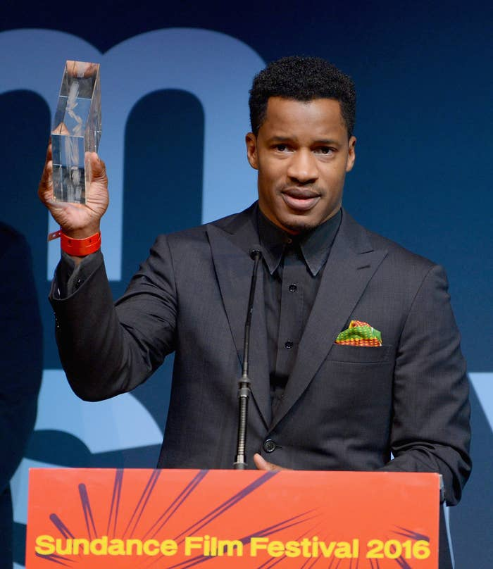 Nate Parker accepts the Audience Award for The Birth of a Nation at the 2016 Sundance Film Festival on January 30, 2016 in Park City, Utah.