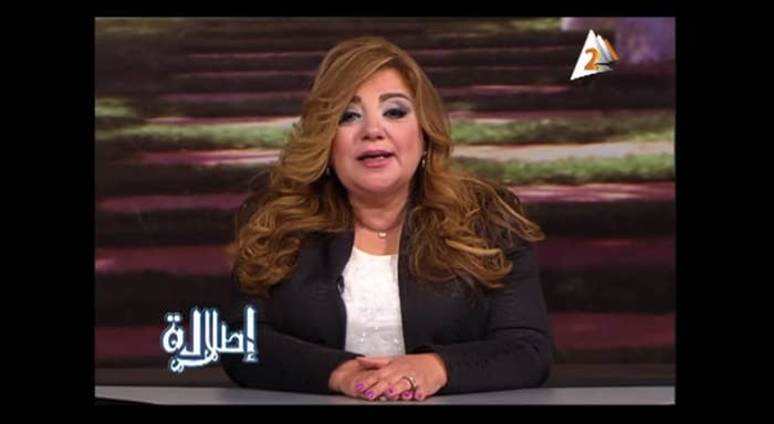 Khadija Khattab, one of eight suspended newscasters