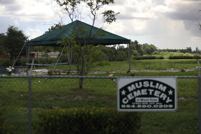 A Muslim cemetery in south Florida.
