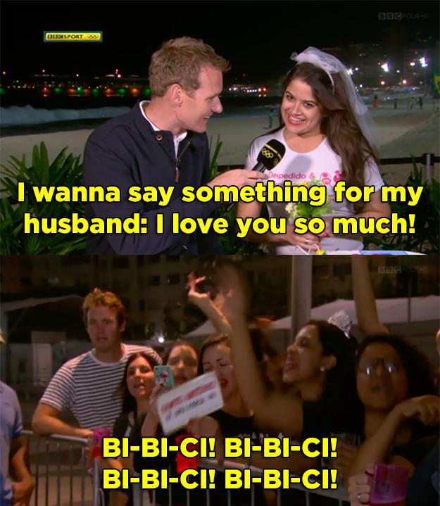 Quando uma transmissão da BBC foi interrompida por uma despedida de solteira e a noiva puxou o coro