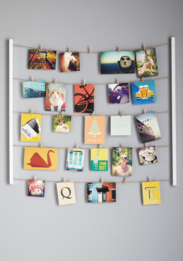 A variety of personal items and pictures to remind you of home sweet home and the people you miss.