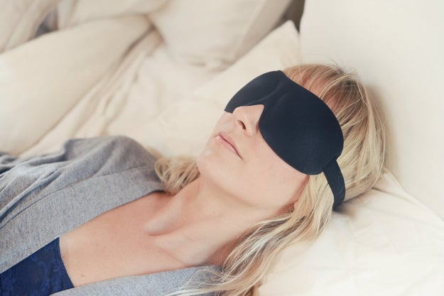 An eye mask to help you fall asleep even if every light in your dorm room is turned on.