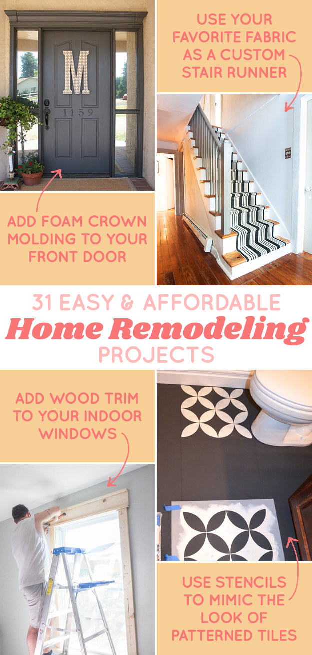 31 diy projects that will make your house look amazing for Affordable home additions