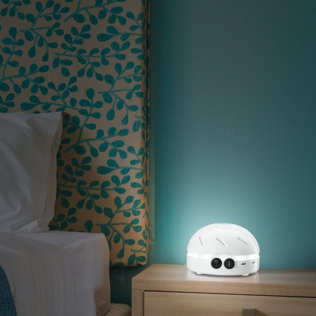 A white noise machine that'll turn your room into a much-needed ~quiet oasis~ amidst the chaos of dorm life and its too-thin walls.