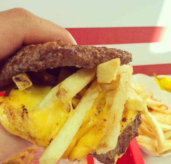 What it is: This is basically a grilled cheese, but it's got beef patties instead of bread. Feeling like a daredevil? Add some fries to the middle as well.—Melody Lai, Facebook