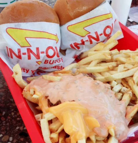 What it is: French fries topped with gooey cheese, grilled onions, and In-N-Out's special sauce.—johannac4
