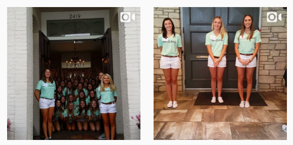 "On Wednesday, the University of Texas at Austin's Greek life page uploaded a series of videos showing sororities performing their traditional ""door stack"" – where sorority members pile up at the door of their house to welcome new recruits."