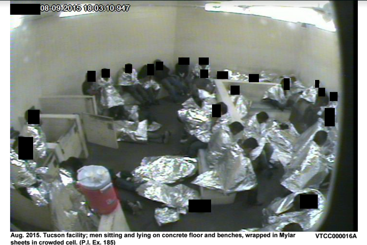 Photos recently ordered released by a federal judge show crowded and what critics say are inhumane conditions in immigrant detention centers along the US-Mexico border.