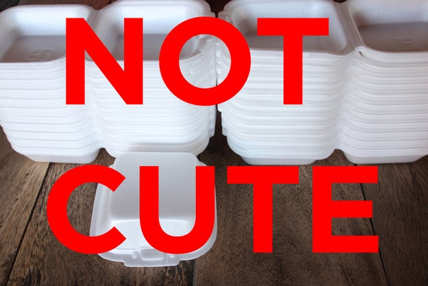 Polystyrene Foam Takeout Containers
