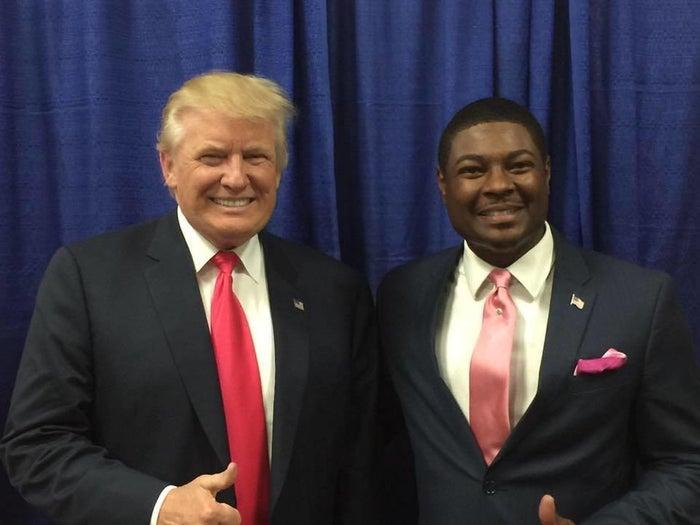 Jackson with Trump in Daytona.