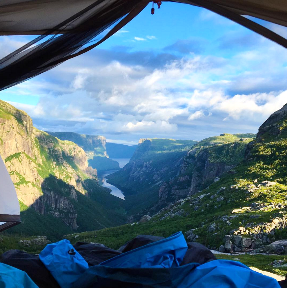 Canada's Gros Morne as seen from what's probably the most scenic campsite in the world.
