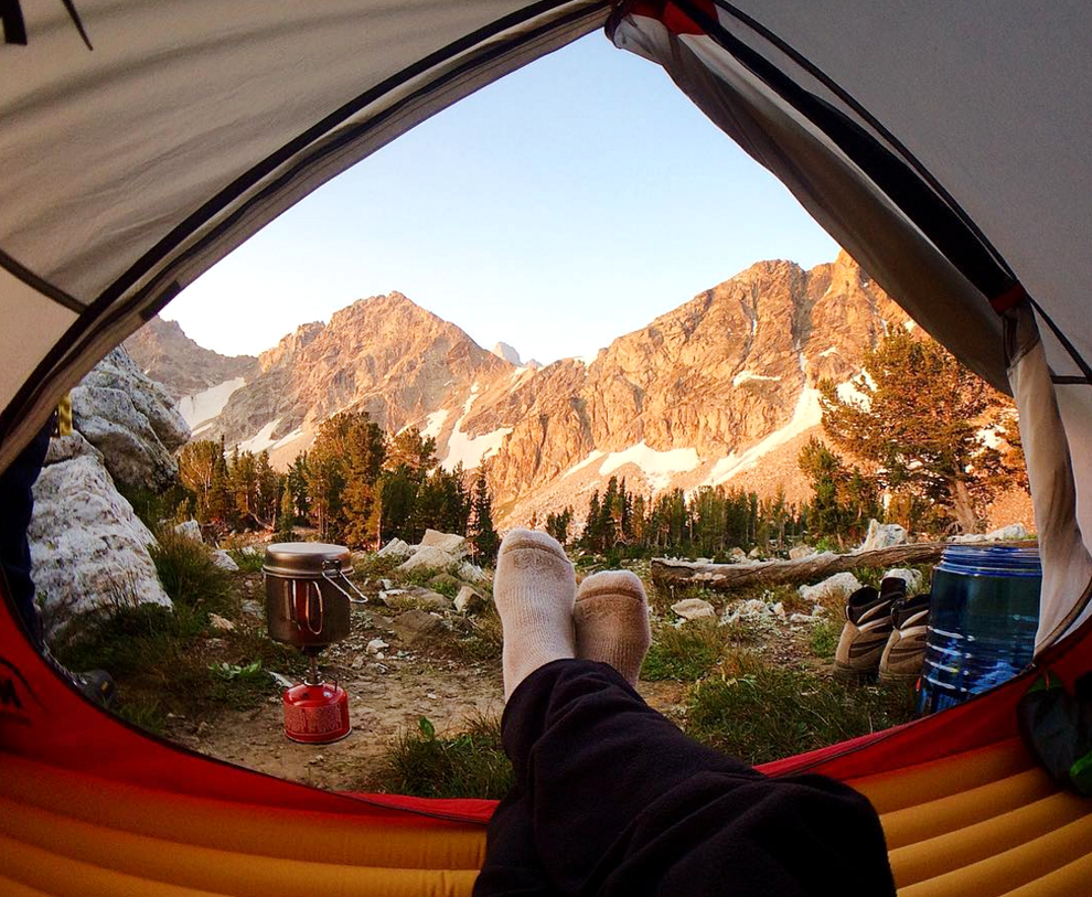 How about kicking back with this view in Wyoming's Grand Teton National Park?