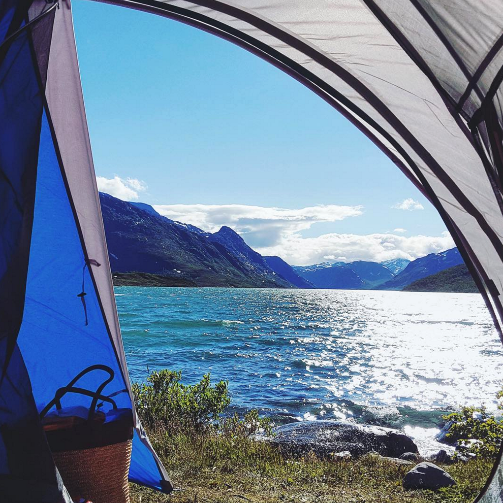 Does it get any better than camping on the beautiful shores of Lake Gjende in Norway?