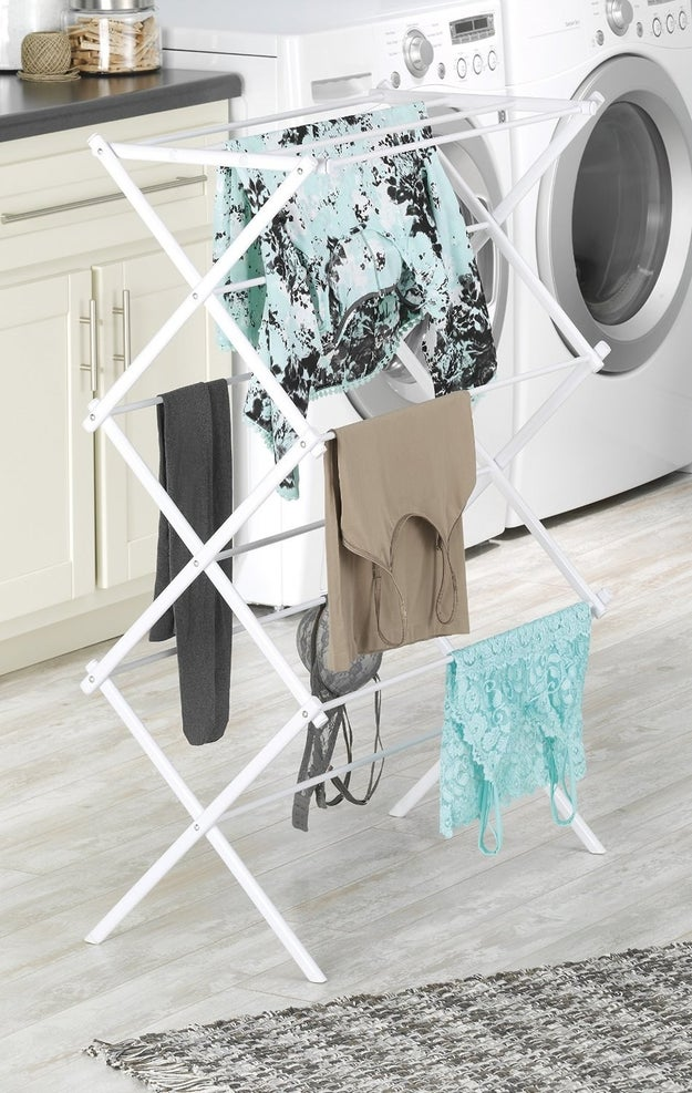 A drying rack for those times when you actually do your own laundry (instead of bringing it home to mom and dad).