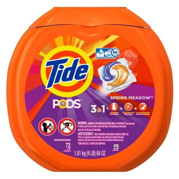 A big 'ol pack of Tide Pods to mask all the parties your clothes will go through and keep up the illusion that they smell like ~spring meadows~.