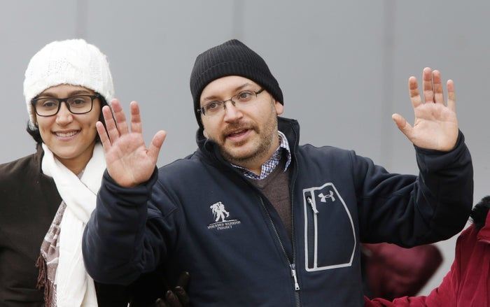 Journalist Jason Rezaian in Germany on Jan. 20 after being released by Iran.