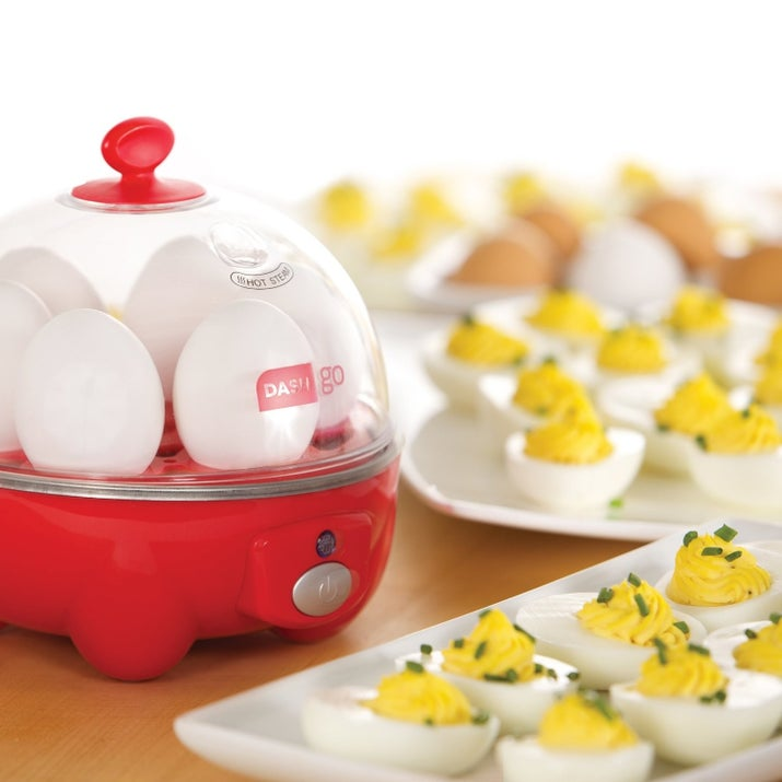 """If you like hard-boiled eggs, it's a real time-saver and makes perfect eggs every time with no work."" —katypritchettl Get it from Amazon for $15.98."
