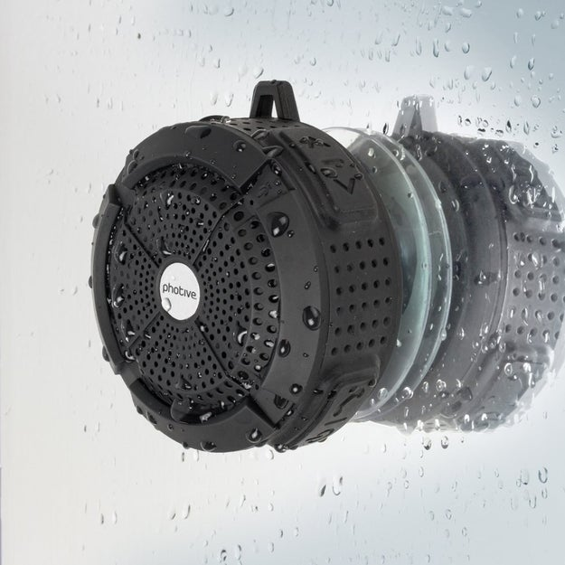 This waterproof speaker that you can use in the shower.