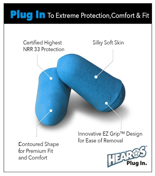 Ear plugs for when things get really, REALLY, R-E-A-L-L-Y bad when it comes to the noisy roommate (or hallway) situation.