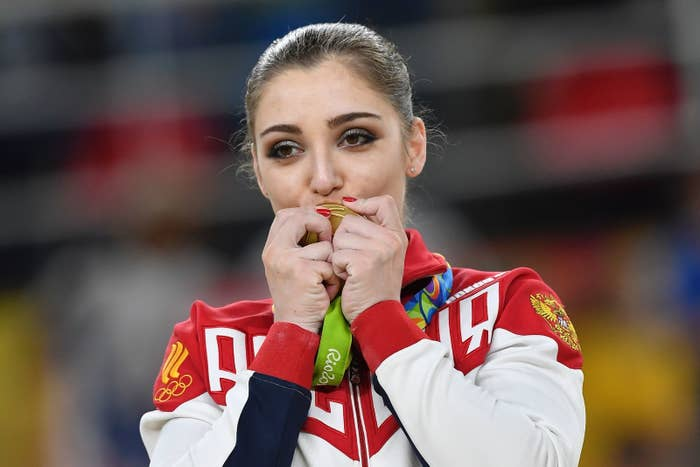 Mustafina, 21, picked up three medals at the Rio Olympics, including a gold medal in the women's uneven bars, a silver in the women's team all-around event, and bronze in the individual all-around event. She's of Muslim descent and Olympic medals run in the family – her father, Farhat Mustafin, an ethnic Tatar, was a bronze medalist at the 1976 Olympics in Montreal in Greco-Roman wrestling.
