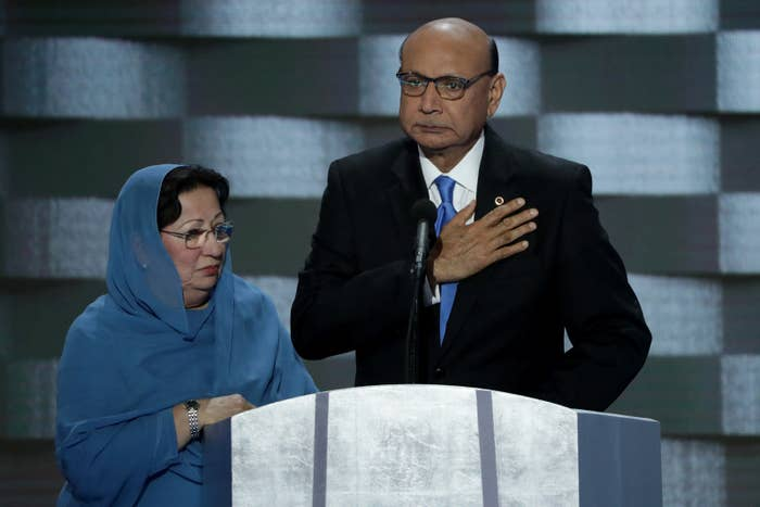 Khizr and Ghazala Khan at the DNC.