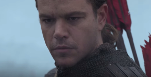 Matt Damon joue le héros du film qui se déroule en Chine pendant le règne de la dynastie Song.
