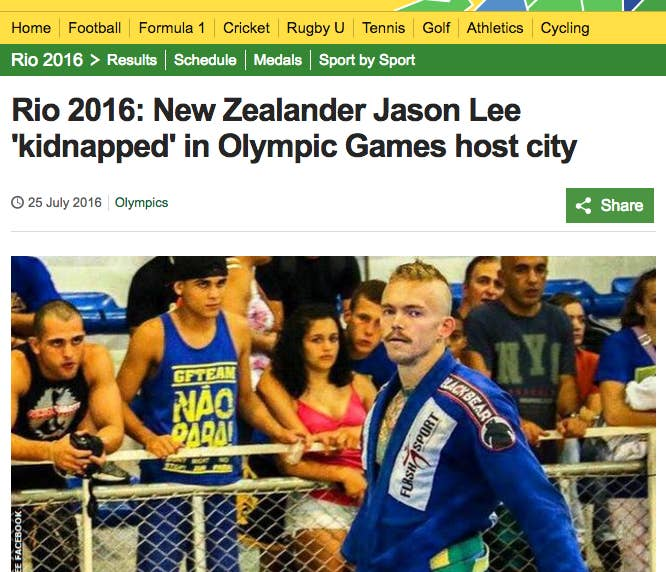 (Yeah, this guy's a Kiwi — and not competing — but let's just count it as an early bad omen.)