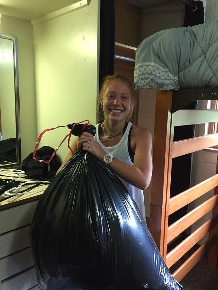 """Lori said they were laughing so hard they were """"rolling."""" People stopped by with air freshener and joked that because they had brought garbage across state lines they had to go take it back. Instead, they """"brought it to the dumpster as fast as possible.""""""""Thank god there were no maggots or rats in there or anything,"""" she said. """"It could've been a lot worse."""""""