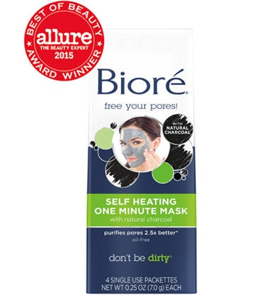 """Their Claim: """"Melt away the stress. Melt away the dirt and oil. Infused with natural charcoal, this thermal mask opens pores and draws out dirt. It finishes with a cooling sensation for tingly-smooth skin in just one minute.""""Price: $5.45"""