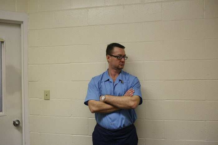 Adam Gray in prison, Feb. 2016.