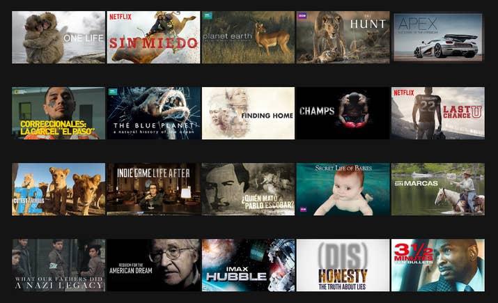 Você terá uma visão mais profunda das coisas e muitos tópicos de conversação. E a Netflix tem uma ampla coleção.