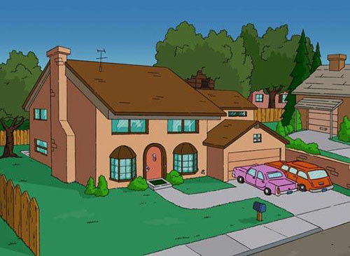 Cartoon Characters Houses : Can you guess the tv show based on house