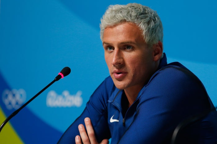 """Lochte's version of events was disputed by police, and Lochte yesterday said he had """"over-exaggerated"""" his initial story, calling it """"immature behavior"""" on his part."""