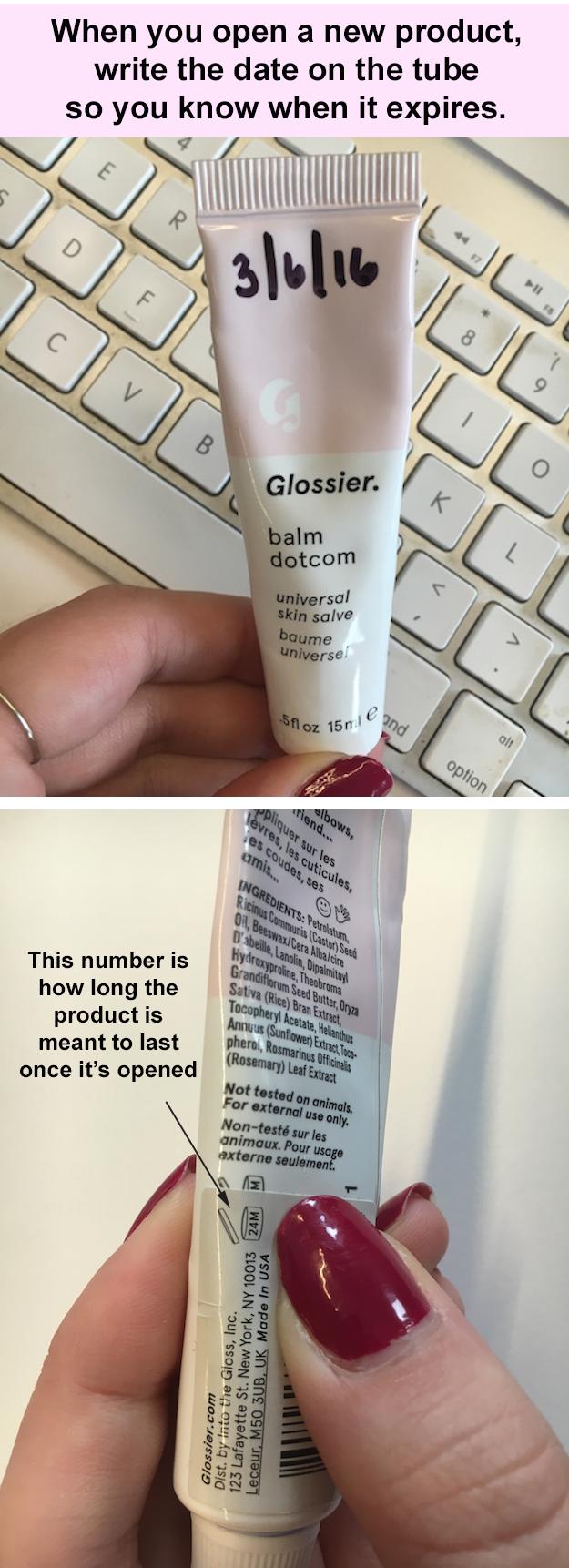 """""""Cuando abras un nuevo producto, escribe la fecha sobre él para saber cuándo es que expira""""."""