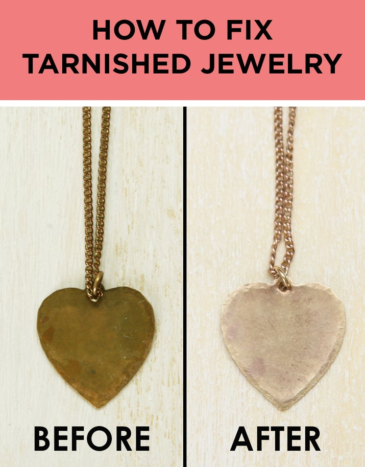 clean tarnished jewelry