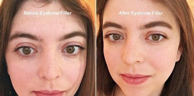 Pre-gel eyebrows.