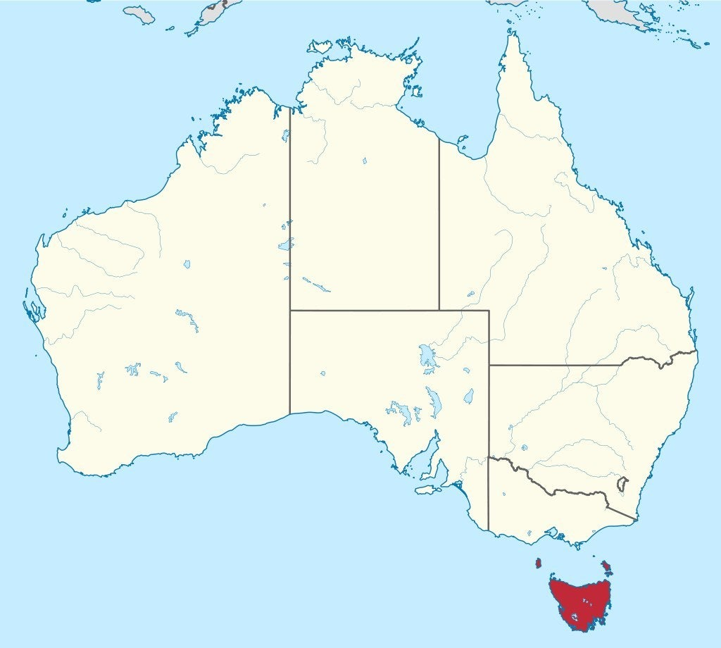 Tasmania on the map