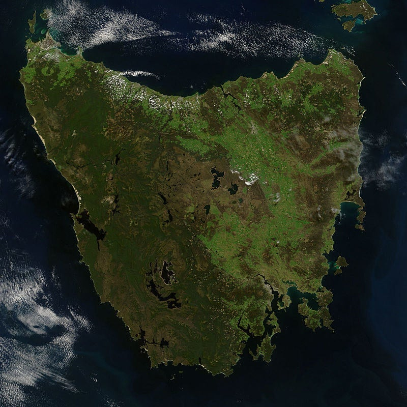 Tasmania from space